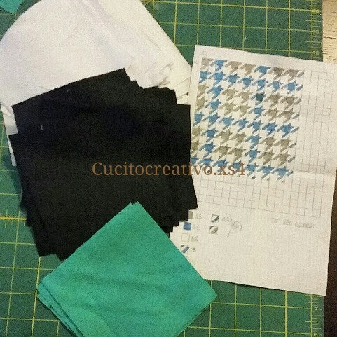 Houndstooth quilt progetto