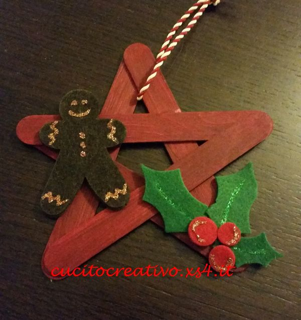 Stella rossa natalizia handmade