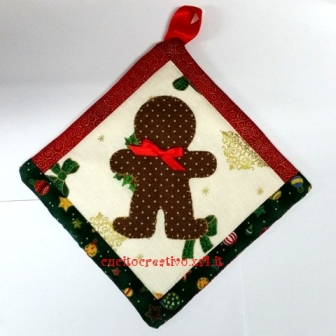 gingerbread potholder