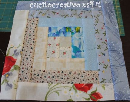Patchwork blocks in partenza cucito creativo for Persiane delle finestre di log cabin