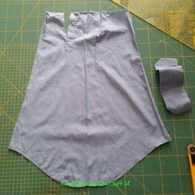 manica camicia tagliata