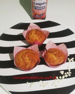 muffin sciroppo fragola cioccolato bianco