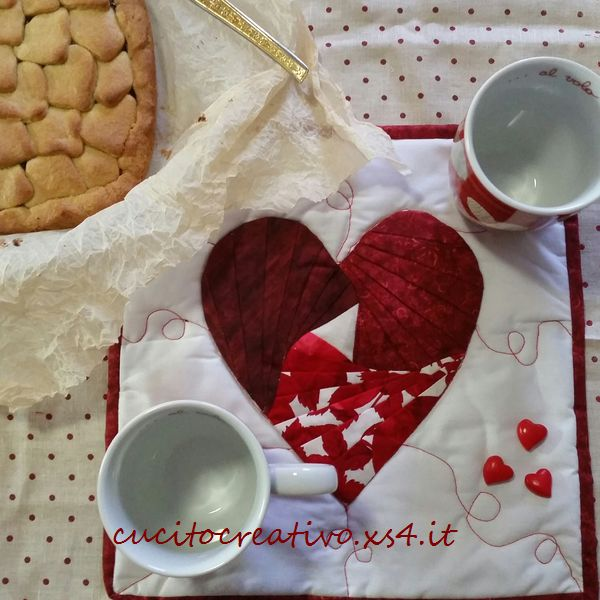 mug rug cuore 2