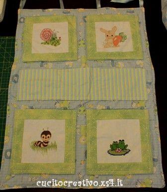 Pannello portaoggetti e bavaglino cucito creativo - Pannello portaoggetti ...