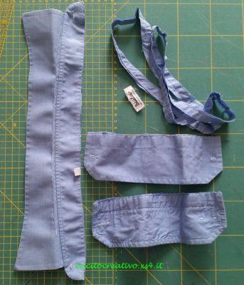 Scarto tessuto camicia