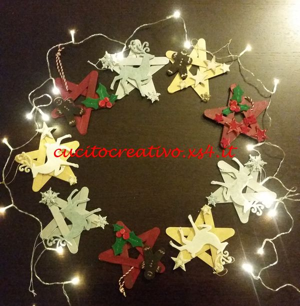 Stelle natalizie handmade con abbassalingua