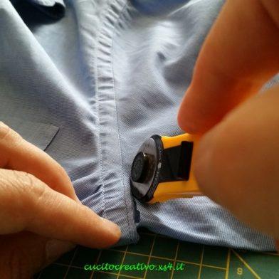 come tagliare le maniche delle camicie