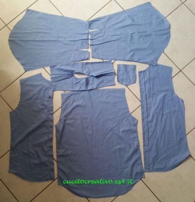 tutorial recupero tessuto camicia