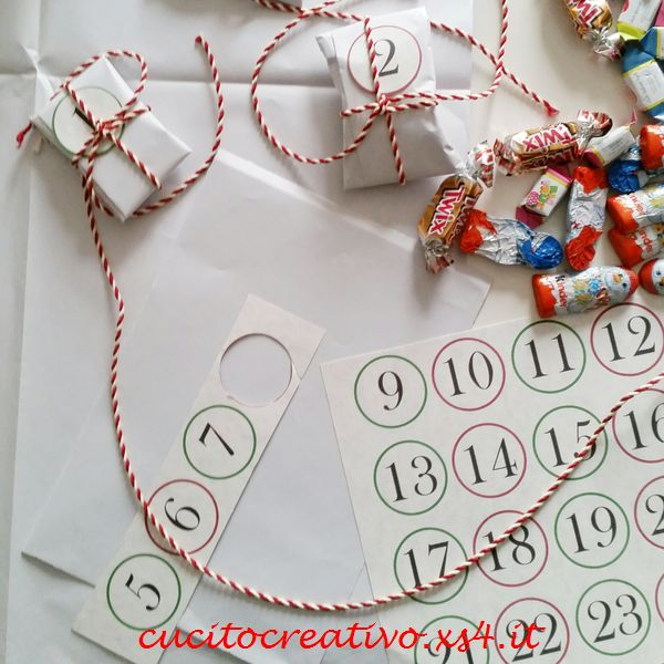Calendario Avvento Pinterest.Calendario Dell Avvendo Con I Pacchetti Cucito Creativo
