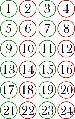 calendario dell'avvento fai da te 1-24