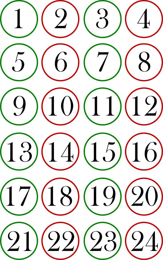Numeri Per Calendario Avvento.Calendario Dell Avvendo Con I Pacchetti Cucito Creativo