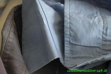 collo polsini usurati camicia