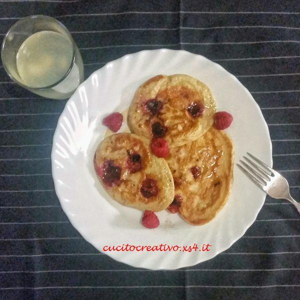 ricetta pancakes con i lamponi