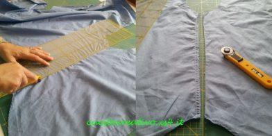 taglio camicia per riciclo tessuto