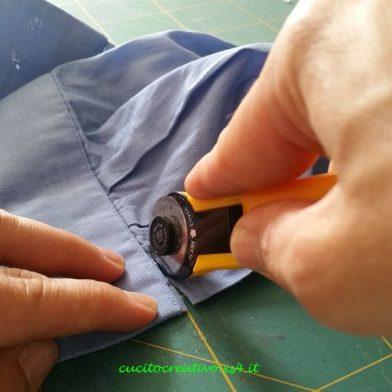 taglio polsini camicia