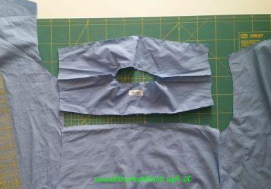 taglio camicia tessuto spalle