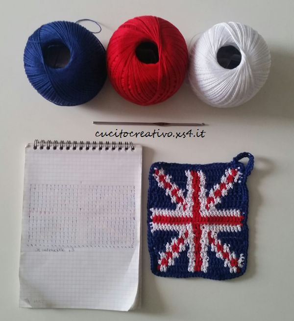 union jack crochet potholder1