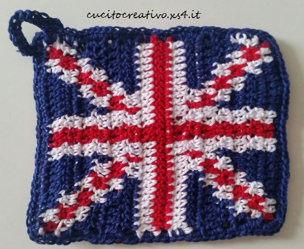 union jack crochet potholder2